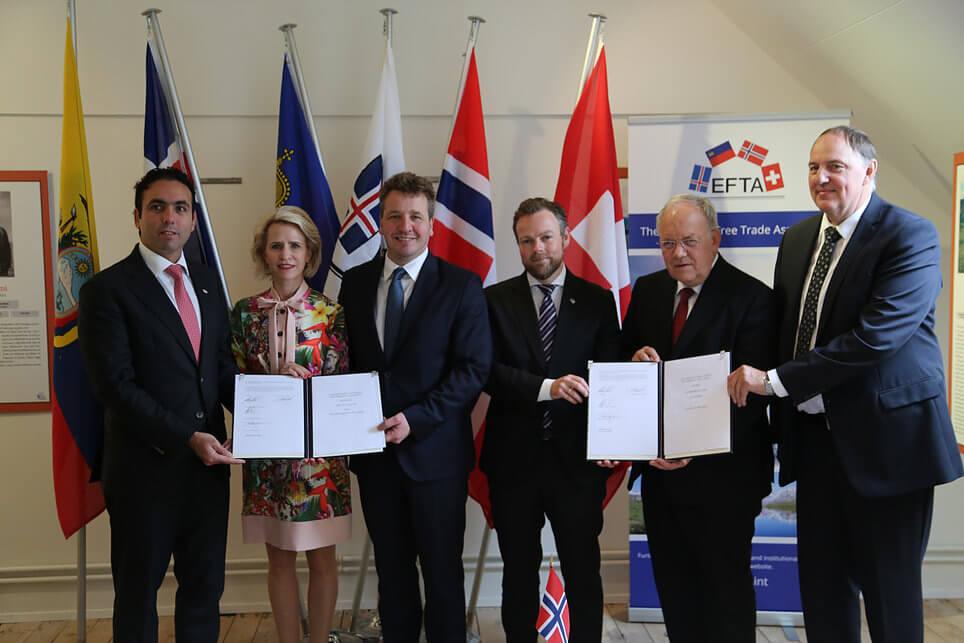 EFTA-Staaten unterzeichnen Freihandelsabkommen mit Ecuador