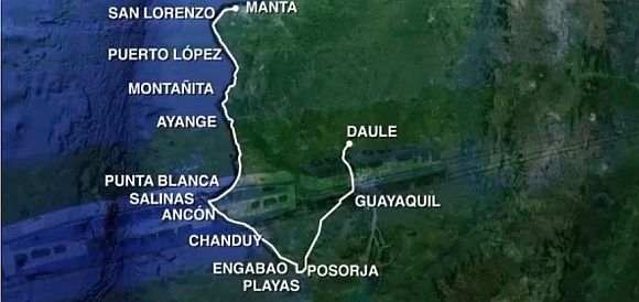 """Tren Playero"": Ecuador baut 400 km langen Küstenzug"