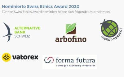 Arbofino nominiert für den Swiss Ethics Award 2020!